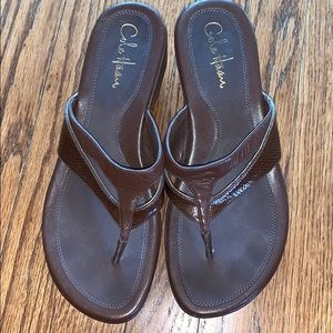NWOT Cole Haan x Nike Air Leather Wedge Sandals